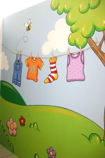 Decoraci n de paredes pintura mural decorativa - Murales para habitaciones infantiles ...