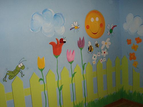 Decoraci n de paredes pintura mural decorativa for Decoracion de paredes infantiles